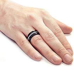 Stainless Steel Cable Inlay Ring