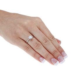 Kabella 14k White Gold 1/3ct TDW Diamond Ring (I-J, I1-I2)