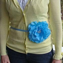 CarolineAlexander Turquoise Rose Flower Belt