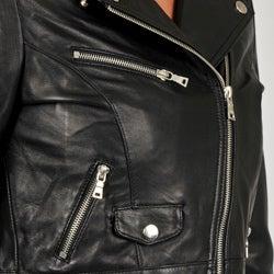 Knoles & Carter Women's Leather Motorcyle Jacket