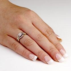 Isabella Collection 10k Gold 1/8ct TDW Diamond Ring Set (G-H, I2-I3)