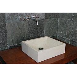 Concrete Cream Half Moon Sink