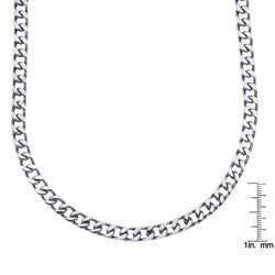 Stainless Steel 24-inch Curb Link Necklace