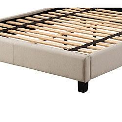 Sarajevo Beige Fabric King Platform Bed