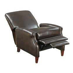 New Creations Espresso Cleburne Leather Recliner