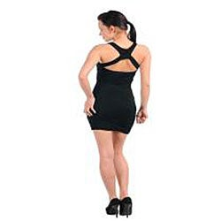 Stanzino Women's Cross Back Black Dress