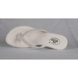 Bolaro by Beston Women's White Wedge Thong Sandals