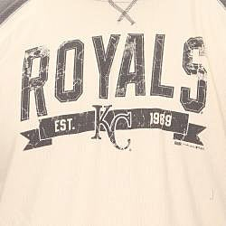 Stitches Men's Kansas City Royals Raglan Thermal Shirt
