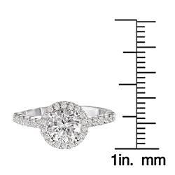 Avanti 14k Gold 3/8ct TDW Diamond Semi-mount Engagement Ring (G-H, SI1-SI2)