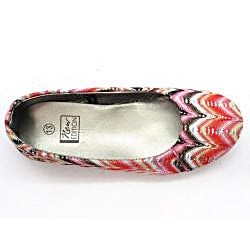 Blue Women's 'Milano' Red Woven Flats