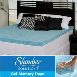 Slumber Solutions Gel 4-inch Twin/ Full-size Memory Foam Mattress Topper