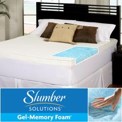 Slumber Solutions Gel Highloft 4-inch Queen/ King/ Cal King-size Memory Foam Mattress Topper with Waterproof Cover