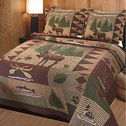 Moose Lodge 3-Piece Quilt Set