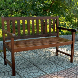 International Caravan Acacia Wood 49-inch Bench