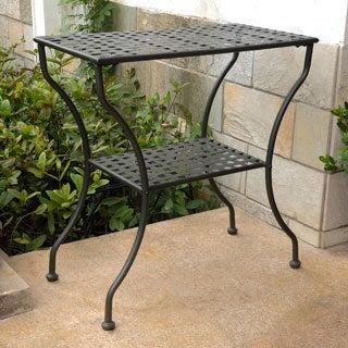 International Caravan Iron Rectangular Patio Table