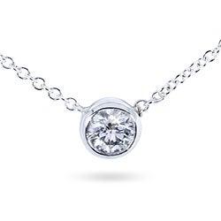 14k Gold 1/4ct Diamond Solitaire Necklace