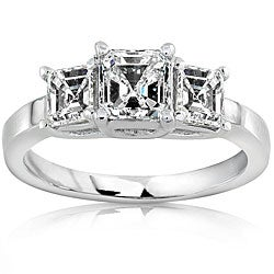 18k Gold 1 1/2ct TDW Asscher Diamond Ring (H-I, SI)