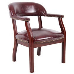 Boss Traditional Mahogany Reception Chair