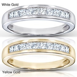 14k Gold 1/3ct TDW Diamond Semi-eternity Band (H-I, I1)