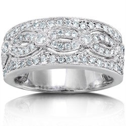 14k White Gold 1/2ct TDW Round Diamond Band
