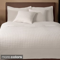 Essex 100-percent Cotton Quilted-square 3-piece Design Quilt Set