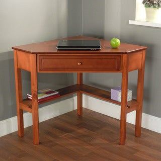 Simple Living Wood Corner Computer Desk