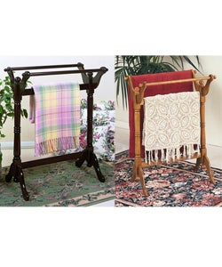 Powell Solid Wood Blankets and Towels Rack