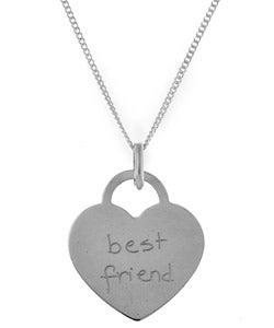 Sterling Essentials Sterling Silver Tween Best Friend Necklace