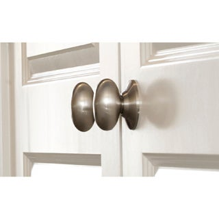 Egg Shaped One Sided Dummy Door Knob Pair