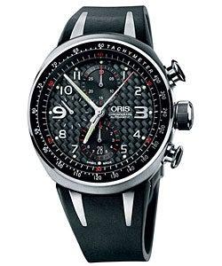 Oris TT3 Men's 674 7587 7264 RS Black Chronograph Automatic Watch
