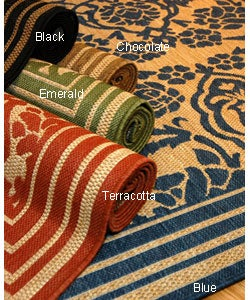 Damask Indoor/ Outdoor Area Rug (3'11 x 5'6)