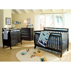 DaVinci Emily 4-in-1 Crib with Toddler Rail in Ebony