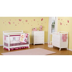 DaVinci Emily 4-in-1 Crib with Toddler Rail in White