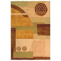Safavieh Handmade Rodeo Drive Soho Beige New Zealand Wool Rug (5' x 8')