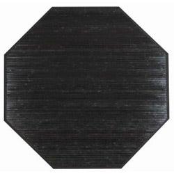 Handmade Black Bamboo Rug (5' Octagonal)