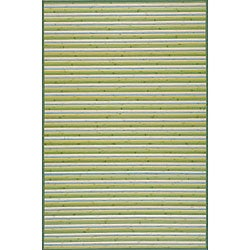 Lime Green Bamboo Rug (3' Octagonal)