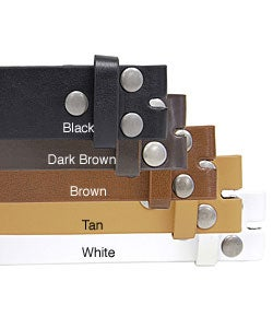 BT Italian Leather Interchangeable Buckle Belt