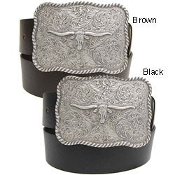 BT Changeable Buckle Men's Leather Belt
