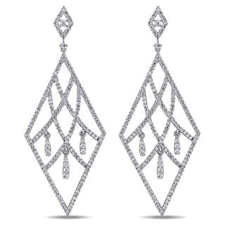 Miadora 18k White Gold 2ct TDW Diamond Earrings (G-H, SI)