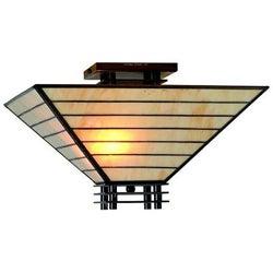 Tiffany-style Mission Semi-flush Ceiling Fixture