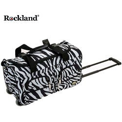 Rockland Zebra 22-inch Carry On Rolling Upright Duffel Bag