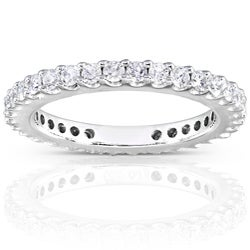 14k Gold 3/4ct TDW Round Diamond Eternity Band (G-H, I1-I2)