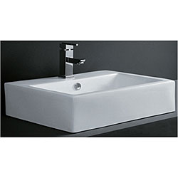 Rectangular Porcelain Bath Vessel Sink
