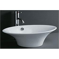 DeNovoTulip-shaped Porcelain Bathroom Vessel Sink