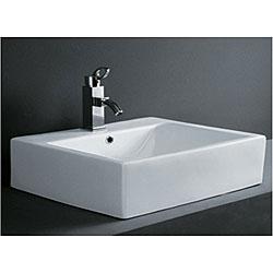 DeNovo Rectangular Porcelain Bath Vessel Sink
