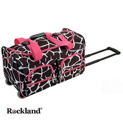 Rockland Giraffe/Pink 22-inch Carry On Rolling Upright Duffel Bag