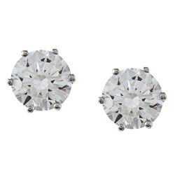 NEXTE Jewelry 14k White Gold Overlay Martini-set CZ Earrings