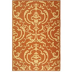 Safavieh Indoor/ Outdoor Bimini Terracotta/ Natural Rug (5'3 x 7'7)