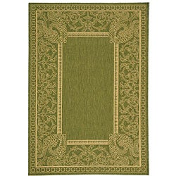 Safavieh Indoor/ Outdoor Abaco Olive/ Natural Rug (2'7 x 5')