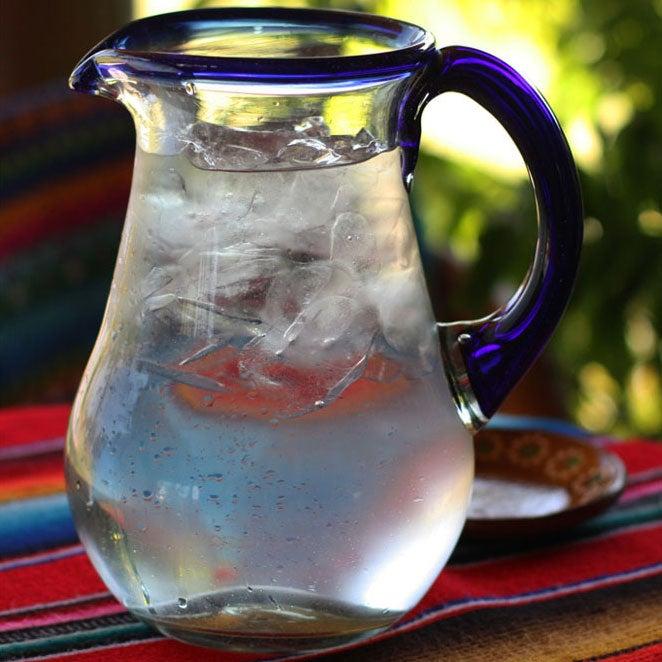 Glass 'Blue Grace' Pitcher (Mexico)
